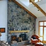 slant fireplace