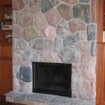 split fieldstone random indoor fireplace