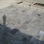square cut flagstone charcoal limestone
