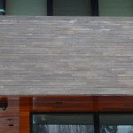 tigerstripe limestone sawn height low rise house closeup