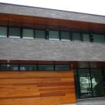 tigerstripe limestone sawn height low rise house side