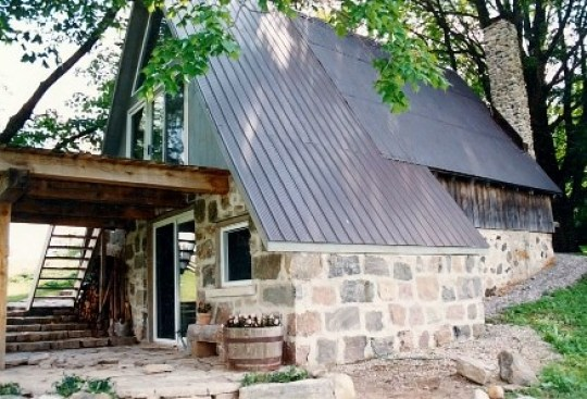 Old Rustic Blacksmith Shop Transformed into a Cottage