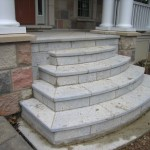 weatheredge limestone bush hammered square cut steps