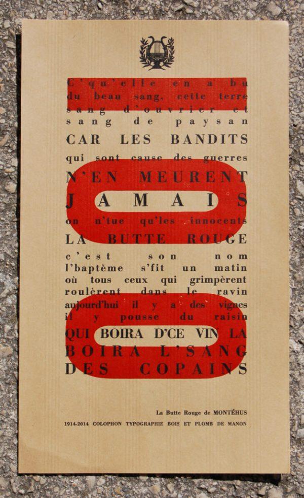 Nos éditions typographiques letterpress