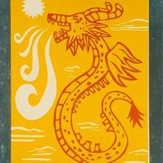 affiche letterpress gravure dragon