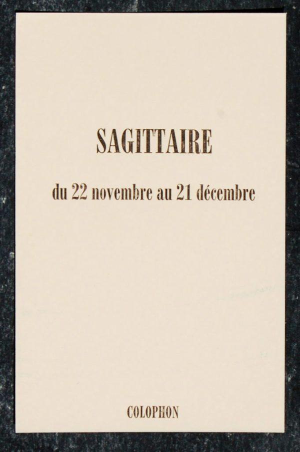 sagittaire signe astrologique zodiaque verso