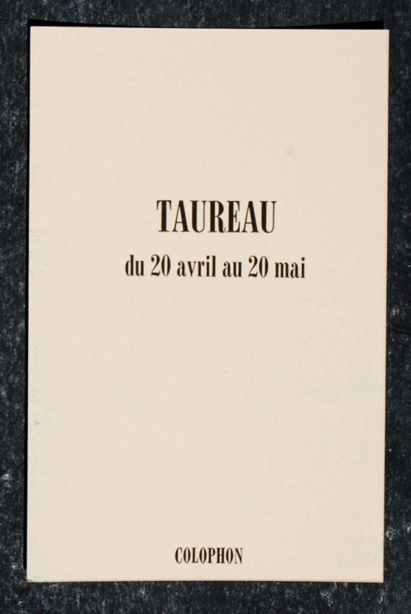 taureau signe astrologique zodiaque verso