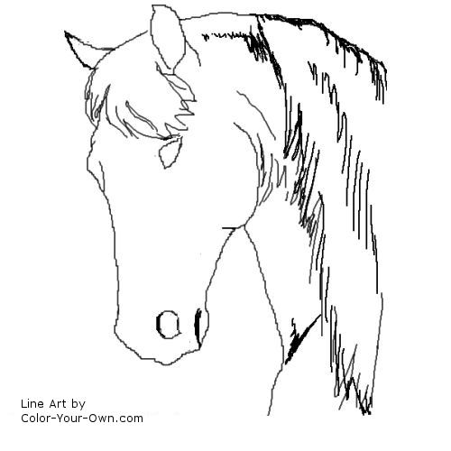 horse head coloring pages for kids cooloring com