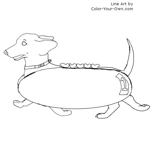 dachshund coloring pages printable cooloring com