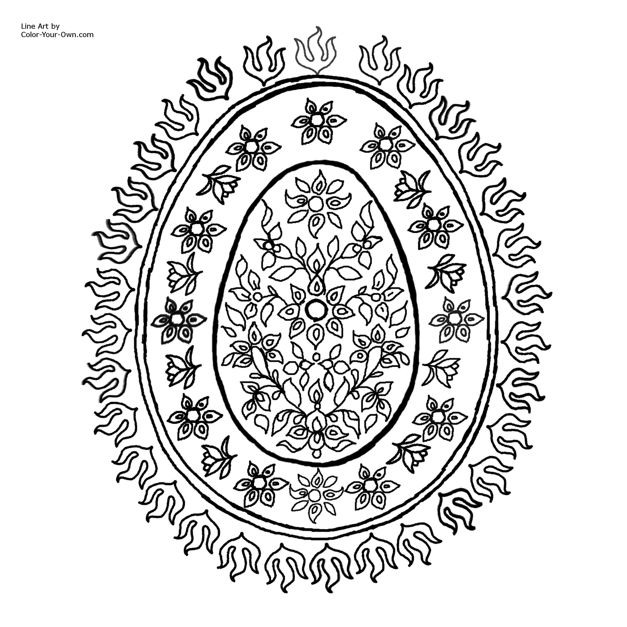 flowers patterns colouring pages