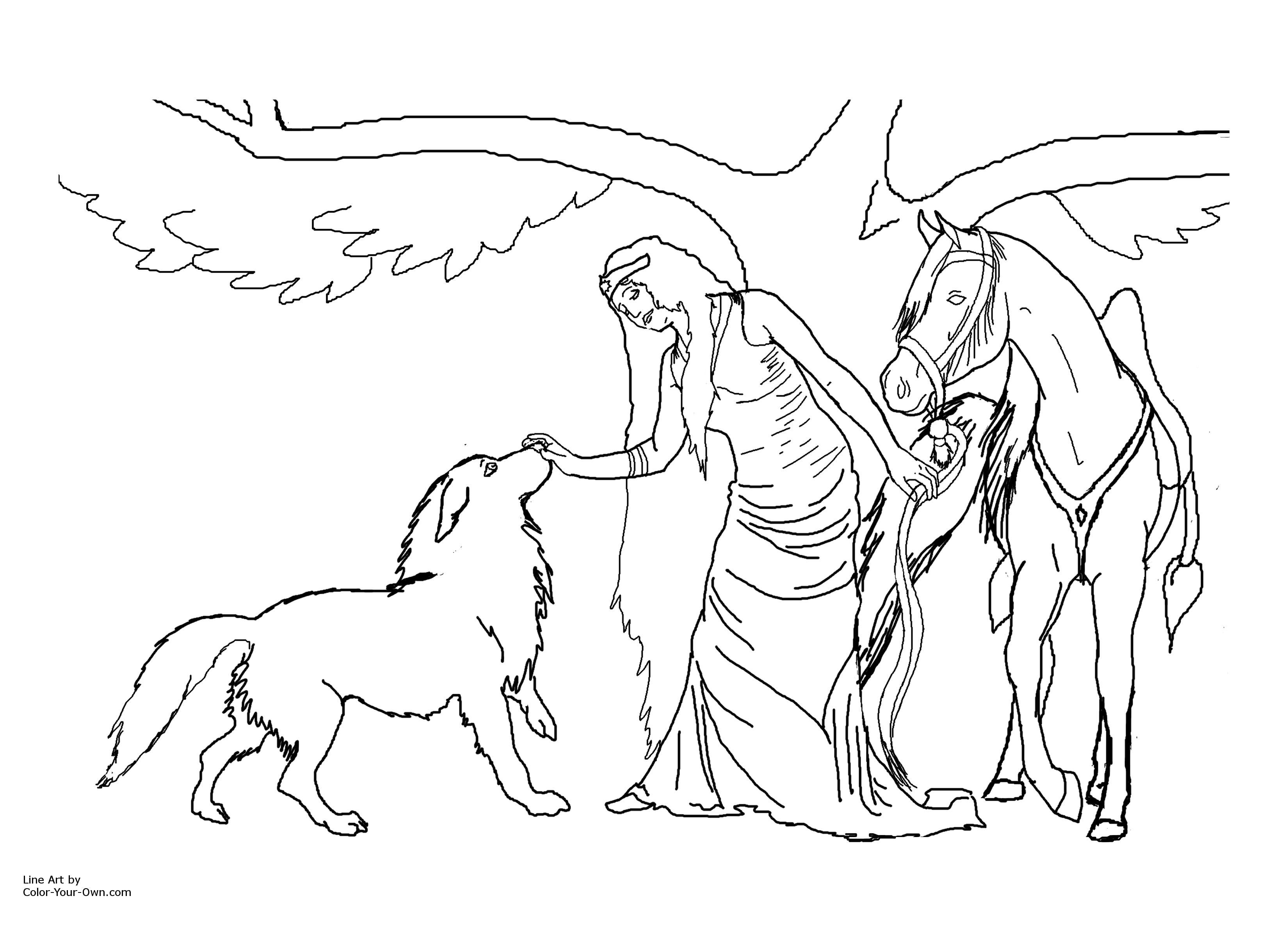 printable fairy horse jpg