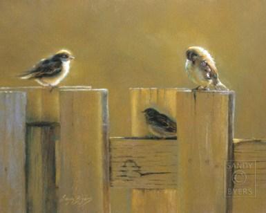 Wee Three pastel painting