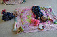 Fraternal twin girls