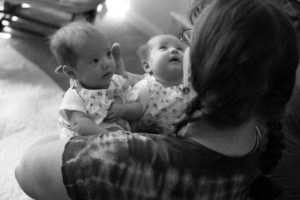 Postpartum doula with twins