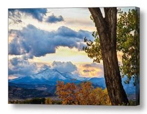 Colorado Rocky-Mountain-Twin-Peaks-Autumn-View-Canvas-Art