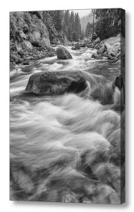 Rocky-Mountain-Streaming-Black-White-Canvas-Art-Print