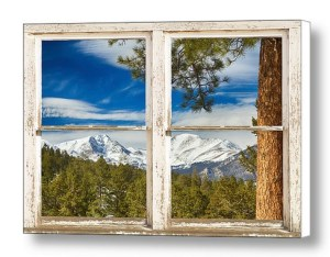 Colorado-Rocky-Mountain-Rustic-Window-View-Canvas-Wall-Art