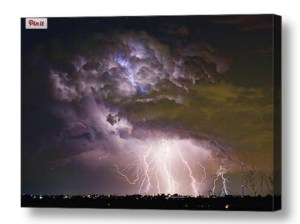 Grand Stand-Lightning-Strikes-Canvas-Wall-Art-Print
