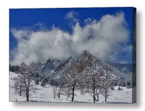 Snowy-Trees-And-The-Flatirons-Boulder-Colorado-Canvas-Wall-Art-Print