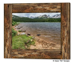 Colorado Rocky Mountain Love Cabin Window View