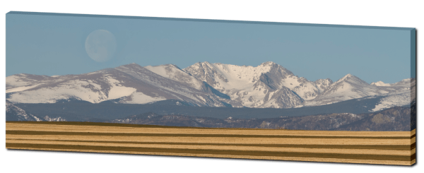 Colorado Moon mountain panorama art