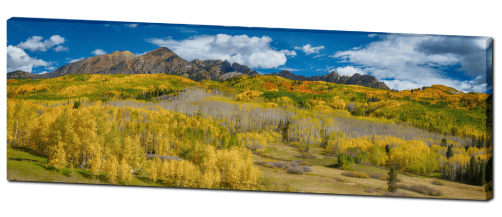 Colorado Autumn Panorama Nature Canvas Art