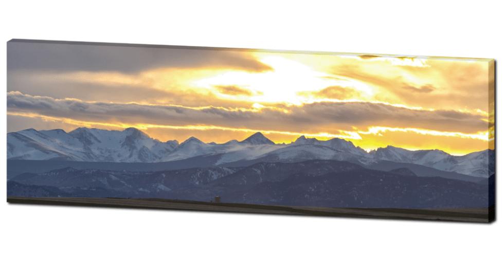rocky mountains panorama canvas art