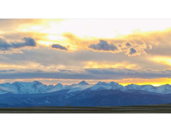 Rocky Mountain Lookout Sunset Panorama Canvas Art