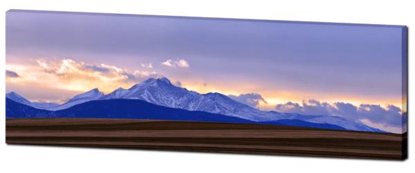 Longs Peak Panorama Canvas Art