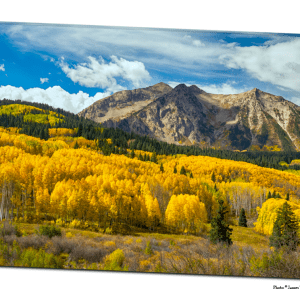 "Colorado Rocky Mountain Fall Foliage 32""x48""x1.25"" Premium Canvas Gallery Art Wrap"