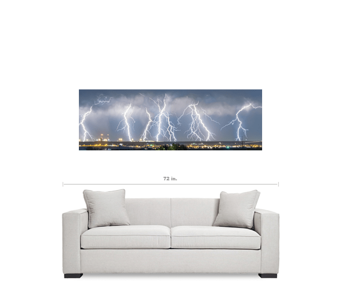 "Severe Thunderstorm Panorama 20""x60""x1.25"" Premium Canvas Gallery Wrap Art"