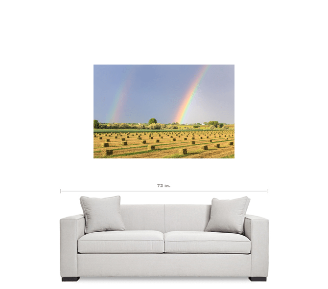 """Just Another Country Rainbow 32""""x48""""x1.25"""" Premium Canvas Gallery Wrap Art"""