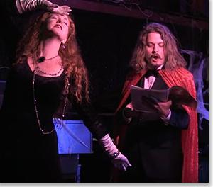 Marta Burton as Magdelena Santiago and Jonathan Montgomery as The Critic