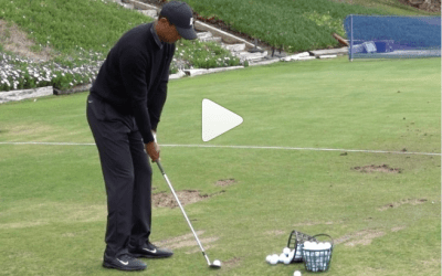 Tiger's practice session is peak golf ASMR