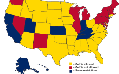 What golf looks like in pandemic America