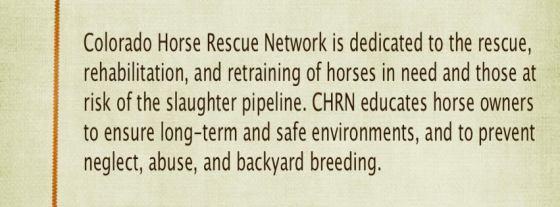Colorado Horse Rescue Network