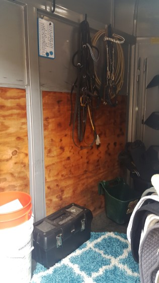 Finished Gridwall on Horse Trailer