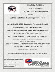 Colorado Obstacle Challenge Series @ High Plains Trail Riders |  |  |