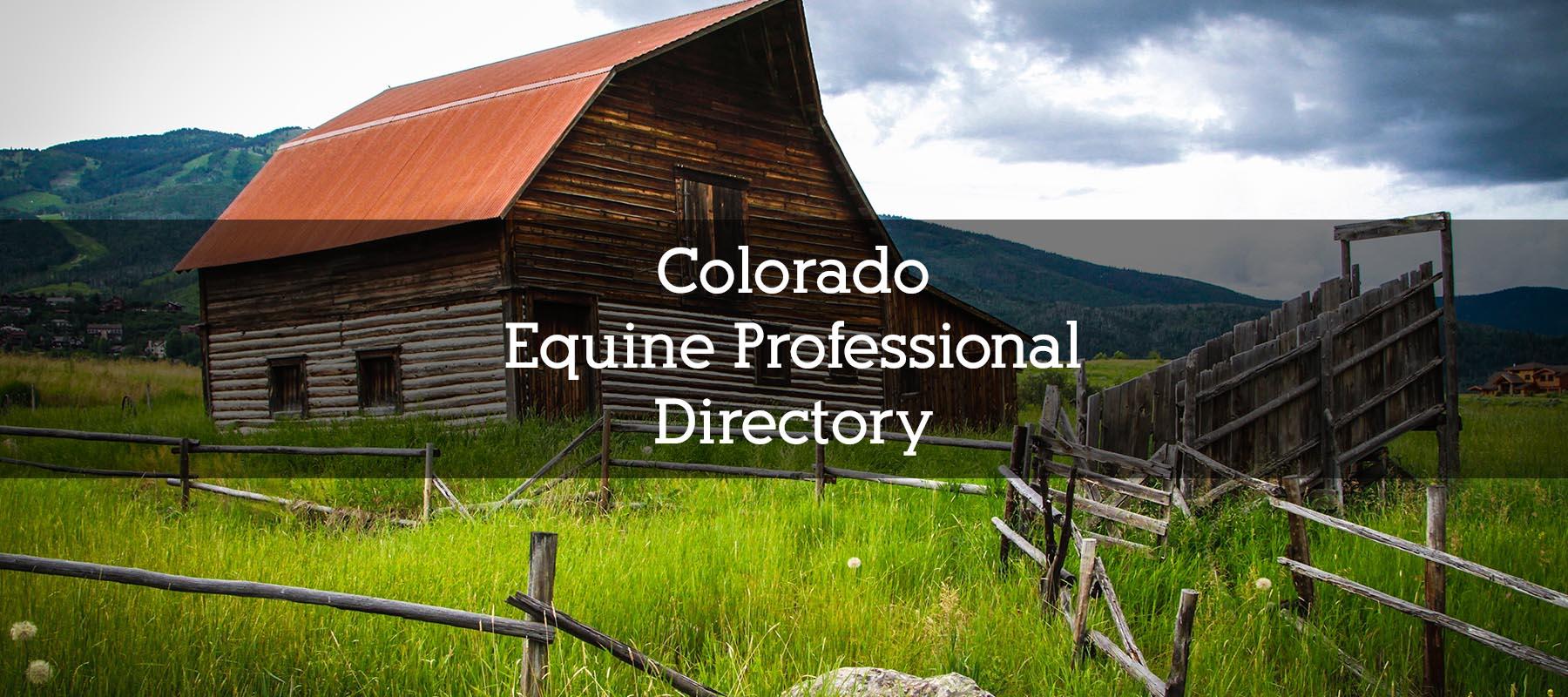 Colorado Equine Professional Directory