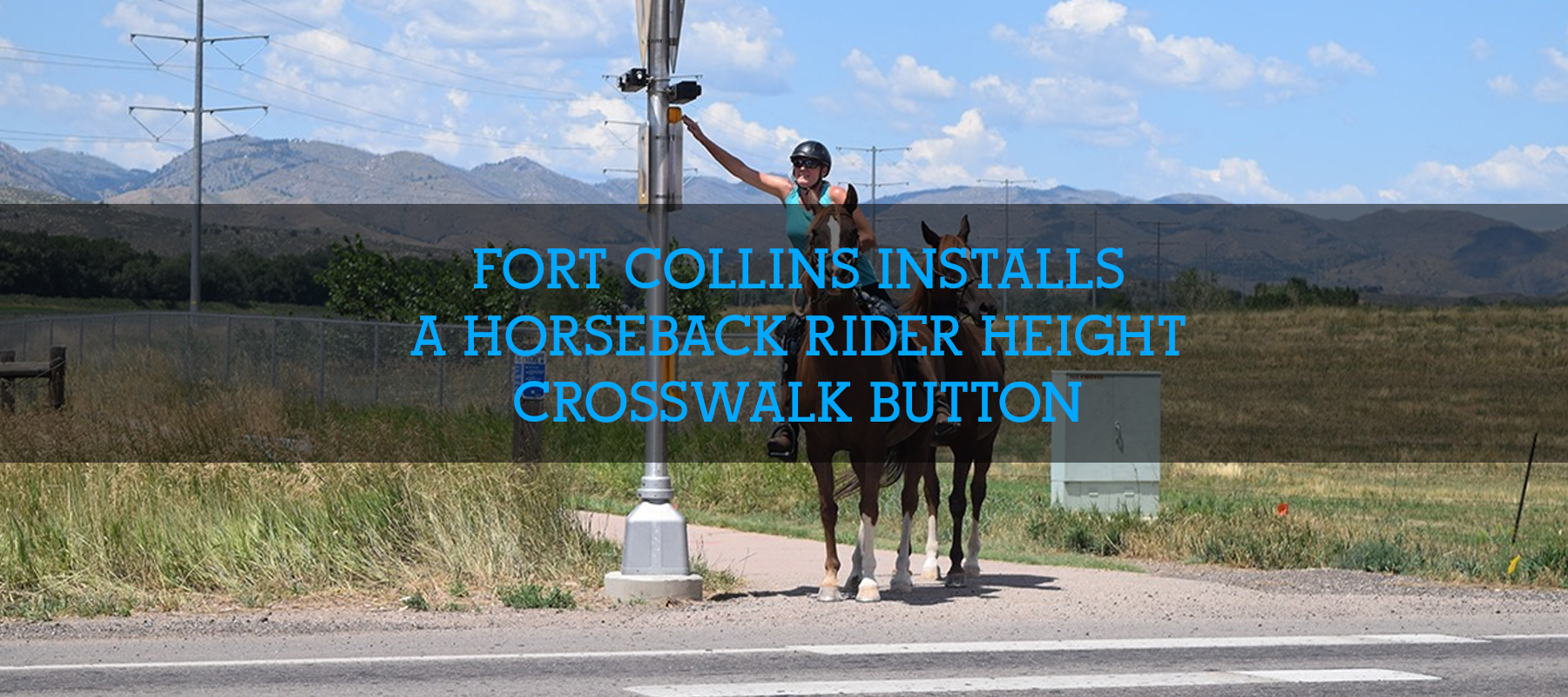 Crosswalk Button for Horseback Riders