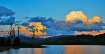 This is not a true pano, but a cropped version of a standard 3:5 aspect image, cropped to emphasize the broad sweep of the landscape around Dillon Reservoir.