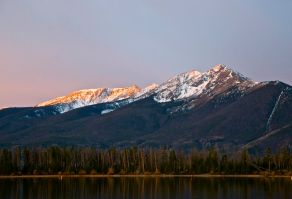 Tender morning alpenglow on the Tenmile Range.