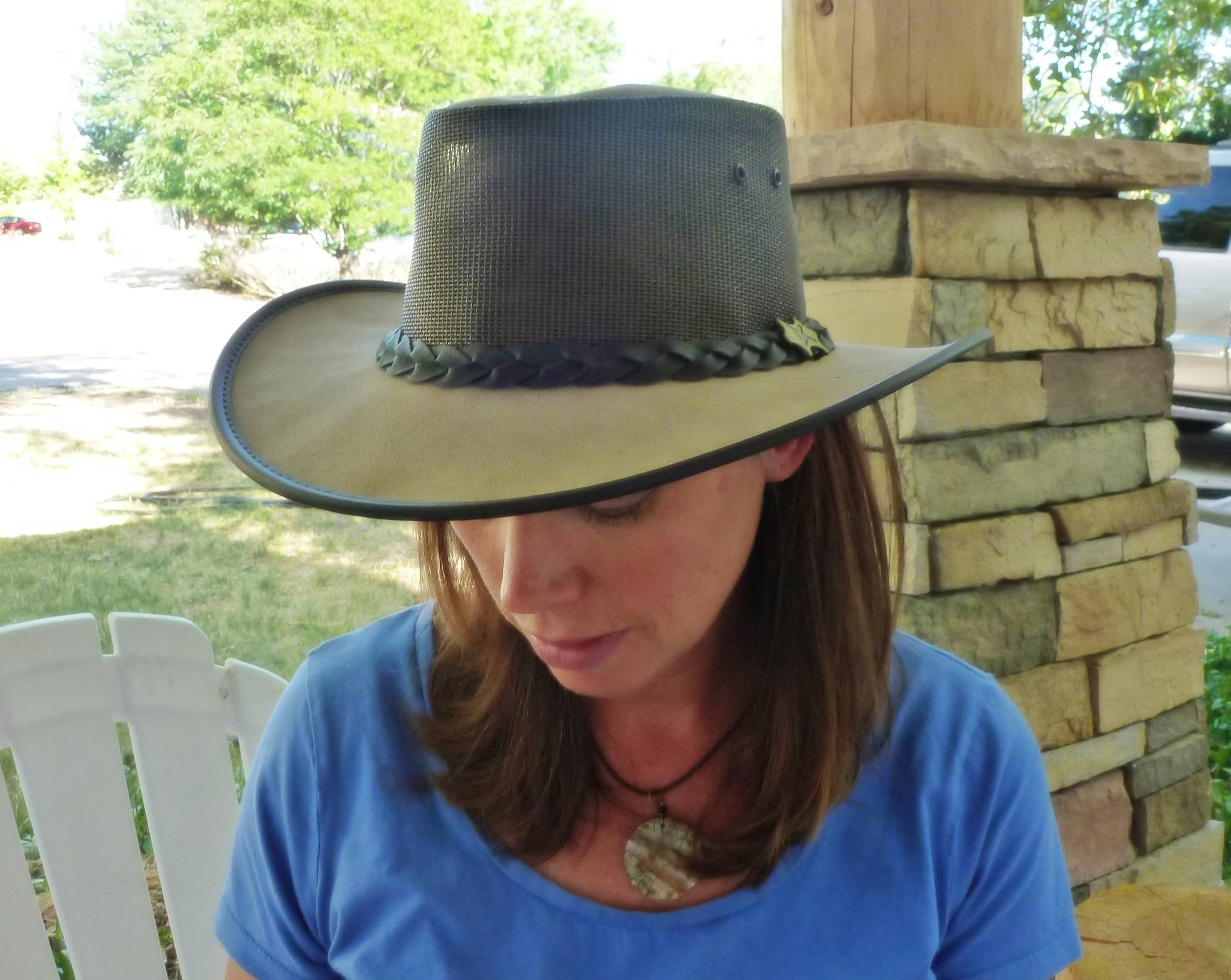 "2e66c0fc5cafc I chose the ""BC Cool as a Breeze Australian Leather"" style because it was  gorgeous AND practical. I really want this to be my new primary hat that I  wear ..."