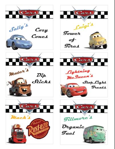 Disney Cars Party Ideas Free Printable Disneyside Colorado