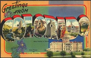 1940s Greetings from Colorado