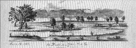 The Pueblo, as sketched by William M. Quesenbury, 1850