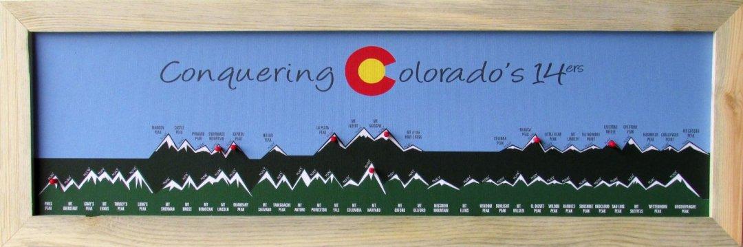 """28"""" x 20"""" Boulder, Colorado Flat Irons - Art Print."""
