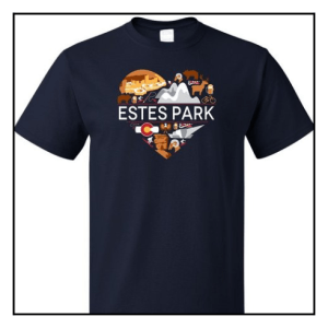 """I Love Estes Park, CO"" T-shirt. $19.95 - $21.95"