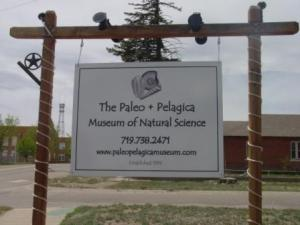The Paleo + Pelagica Museum of Natural Science sign