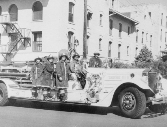 Pueblo's 1937 American LaFrance Quad, nicknamed Big Bertha by firemen.  It served as a front-line apparatus until 1962.
